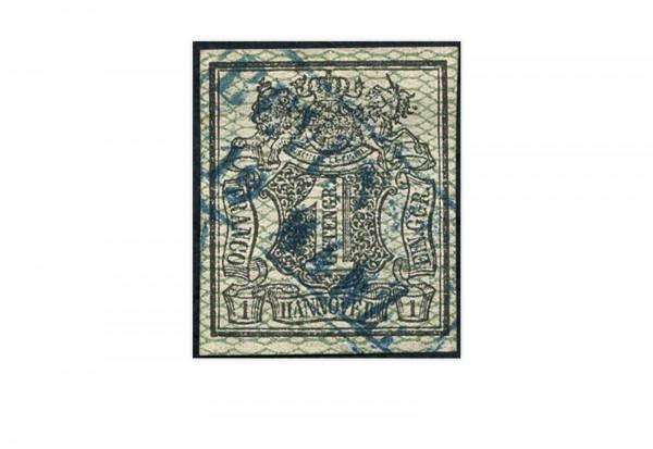 Briefmarke Altdeutschland Hannover Freimarke 1856-1857 Michel-Nr. 9 gestempelt
