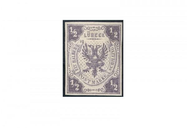 Briefmarke Altdeutschland Lübeck Freimarke 1859 Michel-Nr. 1 ungebraucht