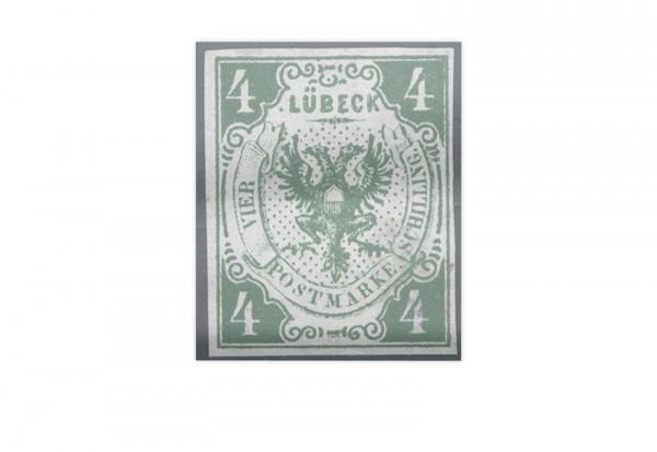 Briefmarke Altdeutschland Lübeck Freimarke 1859 Michel-Nr. 5 ungebraucht