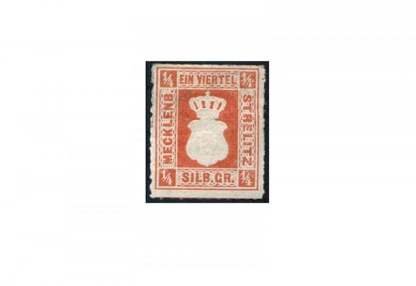 Briefmarke Altdeutschland Mecklenburg-Strelitz Freimarke 1864 Michel-Nr. 1 ungebraucht