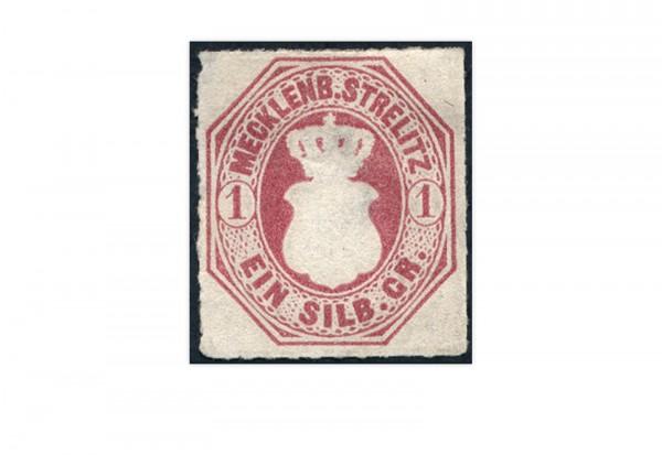 Briefmarke Altdeutschland Mecklenburg-Strelitz Freimarke 1864 Michel-Nr. 4 Falz