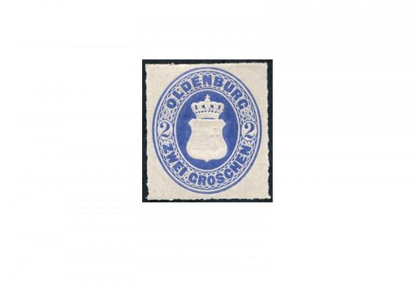Briefmarke Altdeutschland Oldenburg Freimarke 1862 Michel-Nr. 18 Falz
