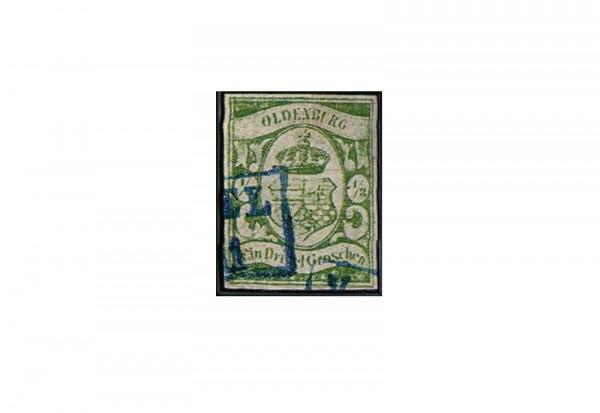 Briefmarke Altdeutschland Oldenburg Freimarke 1859 Michel-Nr. 5 gestempelt geprüft