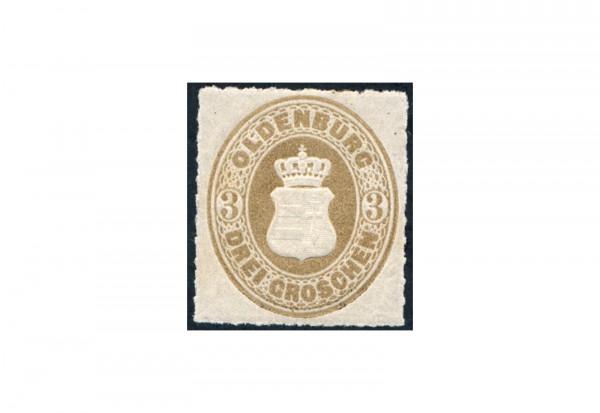 Briefmarke Altdeutschland Oldenburg Freimarke 1862 Michel-Nr. 19 postfrisch
