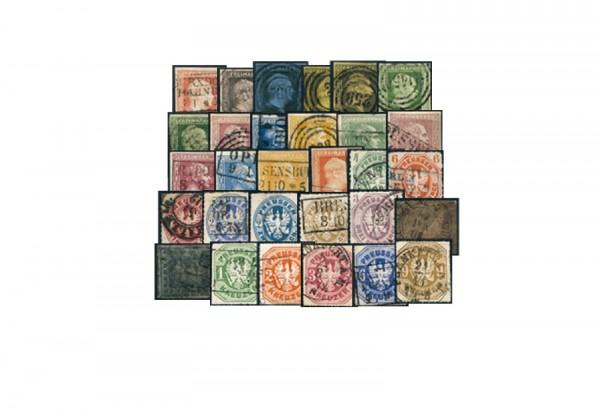 Briefmarken Altdeutsche Staaten Preußen Komplette Sammlung 1850-1867 Michel-Nr. 1-26 gestempelt