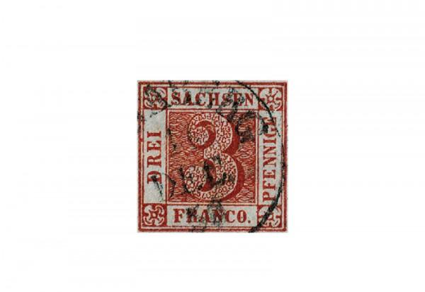 Altdeutschland Sachsen Michel 1 1850 gestempelt
