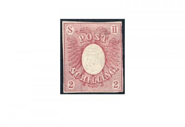 Briefmarke Altdeutschland Schleswig-Holstein Freimarke 1850 Michel-Nr. 2 ungebraucht ohne Gummierung