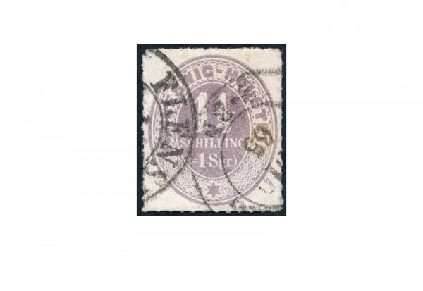 Briefmarke Altdeutschland Schleswig-Holstein Freimarke 1865 Michel-Nr. 10 gestempelt
