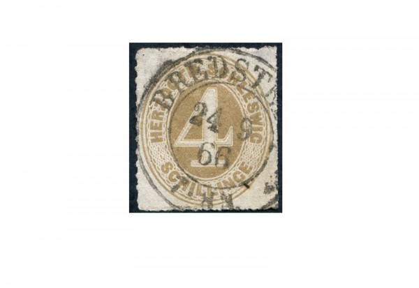 Briefmarke Altdeutschland Schleswig-Holstein Freimarke 1865-1867 Michel-Nr. 17 gestempelt