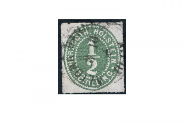 Briefmarke Altdeutschland Schleswig-Holstein Freimarke 1865-1866 Michel-Nr. 19 gestempelt