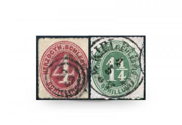Briefmarken Altdeutschland Schleswig-Holstein Freimarken 1864 Michel-Nr. 3-4 gestempelt