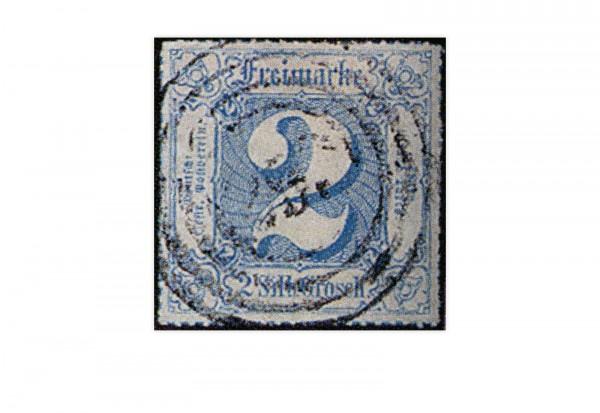 Briefmarke Altdeutschland Thurn und Taxis Freimarke 1866 Michel-Nr 49 gestempelt