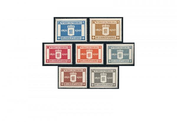 Briefmarken Altdeutschland Württemberg Dienstmarken 1916 Michel-Nr. 123-129 postfrisch