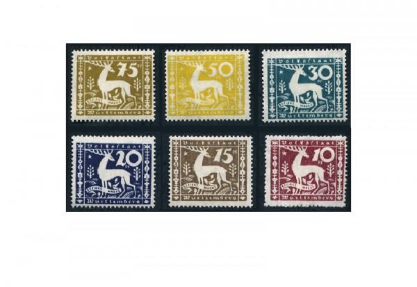 Briefmarken Altdeutschland Württemberg Dienstmarken 1920 Michel-Nr. 144-149 postfrisch