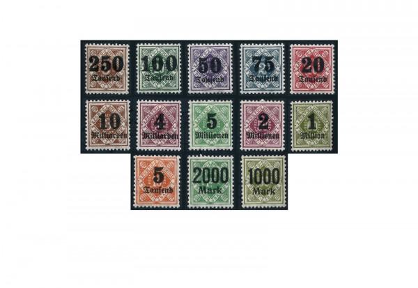 Briefmarken Altdeutschland Württemberg Dienstmarken 1923 Michel-Nr. 171-183 postfrisch