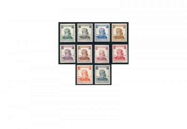 Briefmarken Altdeutschland Württemberg Dienstmarken 1916 Michel-Nr. 241-250 postfrisch