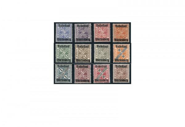 Briefmarken Altdeutschland Württemberg Dienstmarken 1919 Michel-Nr. 258-270 postfrisch