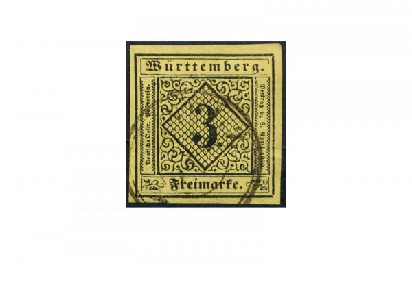 Briefmarke Altdeutschland Württemberg Freimarke 1851 Michel-Nr. 2 gestempelt