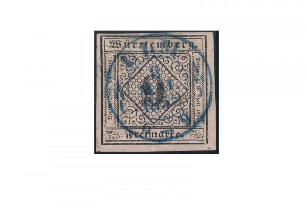 Briefmarke Altdeutschland Württemberg Freimarke 1851 Michel-Nr. 4 gestempelt