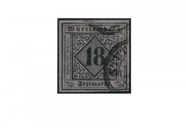 Briefmarke Altdeutschland Württemberg Freimarke 1851 Michel-Nr. 5 gestempelt
