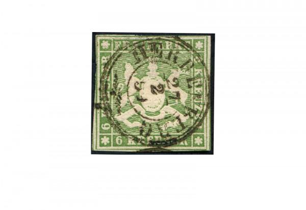Briefmarke Altdeutschland Württemberg Freimarke 1857 Michel-Nr. 8 gestempelt