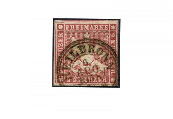 Briefmarke Altdeutschland Württemberg Freimarke 1857 Michel-Nr. 9 gestempelt
