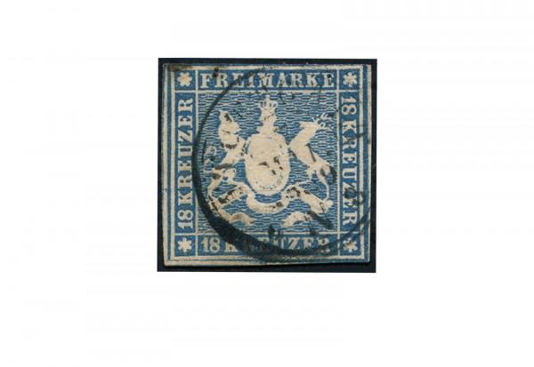 Briefmarke Altdeutschland Württemberg Freimarke 1857 Michel-Nr. 10 gestempelt geprüft