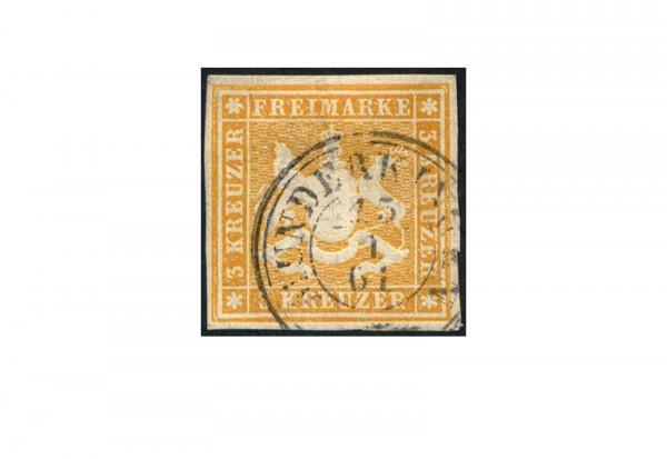 Briefmarke Altdeutschland Württemberg Freimarke 1859 Michel-Nr. 12 gestempelt