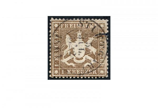 Briefmarke Altdeutschland Württemberg Freimarke 1860 Michel-Nr. 16 x gestempelt