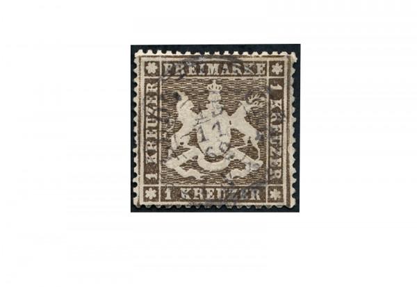 Briefmarke Altdeutschland Württemberg Freimarke 1861 Michel-Nr. 16 y gestempelt