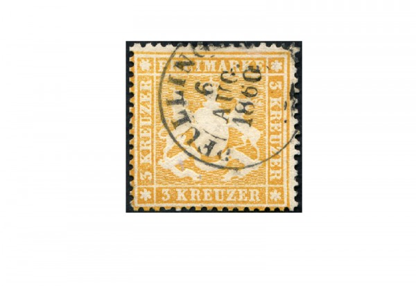 Briefmarke Altdeutschland Württemberg Freimarke 1860 Michel-Nr. 17 x gestempelt