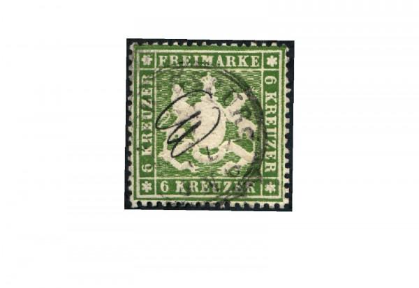 Briefmarke Altdeutschland Württemberg Freimarke 1860 Michel-Nr. 18 x gestempelt