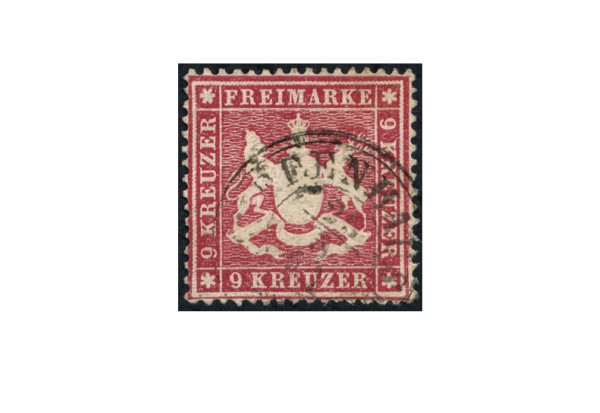 Briefmarke Altdeutschland Württemberg Freimarke 1860 Michel-Nr. 19 x gestempelt