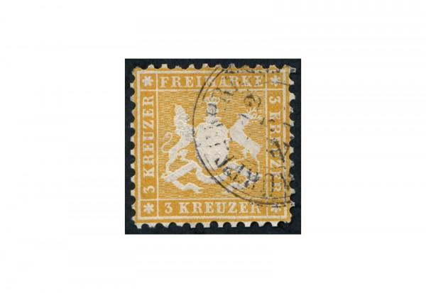Briefmarke Altdeutschland Württemberg Freimarke 1862 Michel-Nr. 22 gestempelt