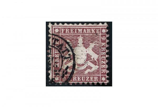 Briefmarke Altdeutschland Württemberg Freimarke 1862 Michel-Nr. 24 gestempelt