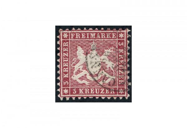 Briefmarke Altdeutschland Württemberg Freimarke 1863 Michel-Nr. 26 gestempelt