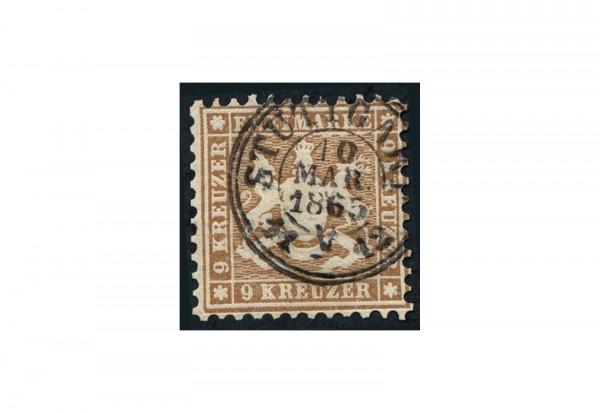 Briefmarke Altdeutschland Württemberg Freimarke 1863 Michel-Nr. 28 a gestempelt