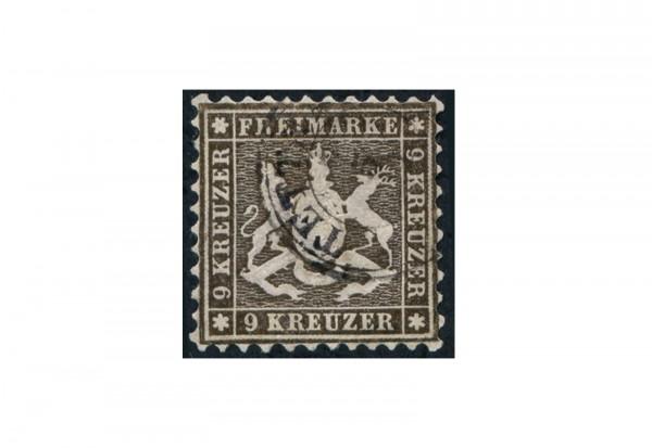 Briefmarke Altdeutschland Württemberg Freimarke 1863 Michel-Nr. 28 d gestempelt