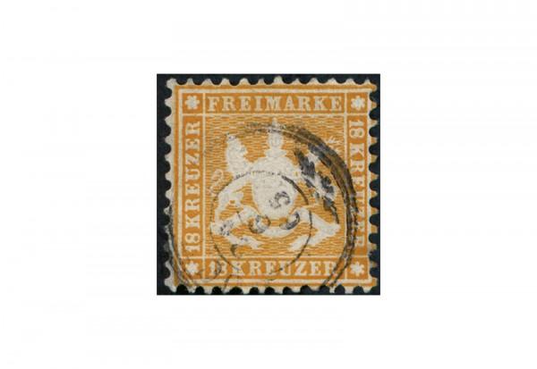 Briefmarke Altdeutschland Württemberg Freimarke 1863 Michel-Nr. 29 gestempelt