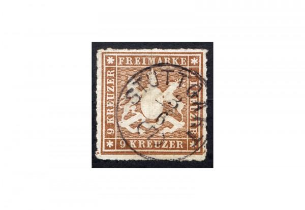 Briefmarke Altdeutschland Württemberg Freimarke 1866 Michel-Nr. 33 a gestempelt