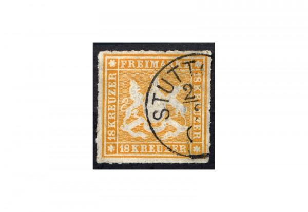 Briefmarke Altdeutschland Württemberg Freimarke 1867 Michel-Nr. 34 gestempelt geprüft