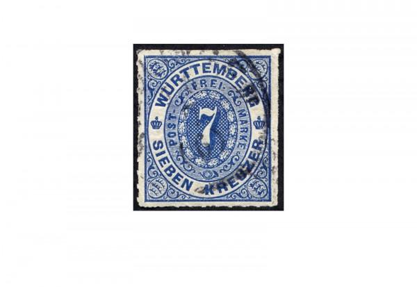 Briefmarke Altdeutschland Württemberg Freimarke 1869 Michel-Nr. 39 gestempelt