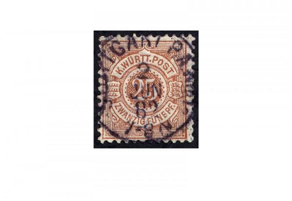 Briefmarke Altdeutschland Württemberg Freimarke 1875 Michel-Nr. 48 gestempelt