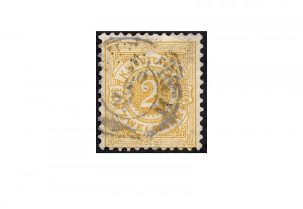Briefmarke Altdeutschland Württemberg Freimarke 1875 Michel-Nr. 50 gestempelt