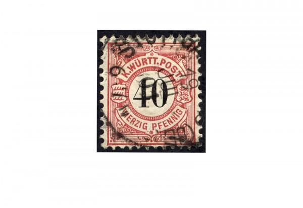 Briefmarke Altdeutschland Württemberg Freimarke 1900 Michel-Nr. 62 gestempelt