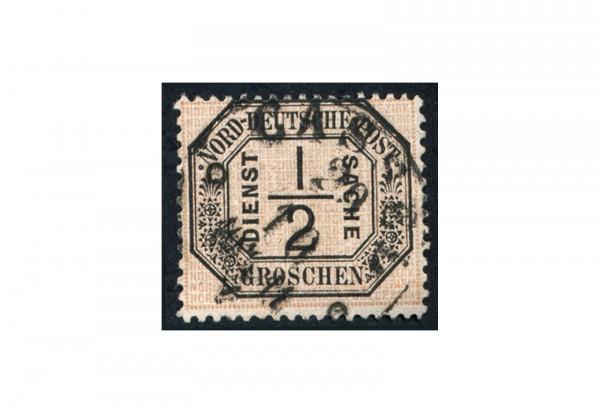 Dienstmarke Norddeutscher Bund 1870 Michel Nr. D 3 gestempelt