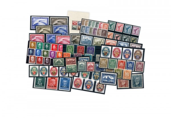 Briefmarken Weimarer Republik Komplettsammlung Miichel-Nr. 338/478 Falz