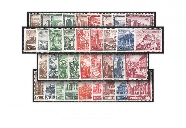 Briefmarken Deutsches Reich Winterhilfe Quartett Bauwerke im Set postfrisch