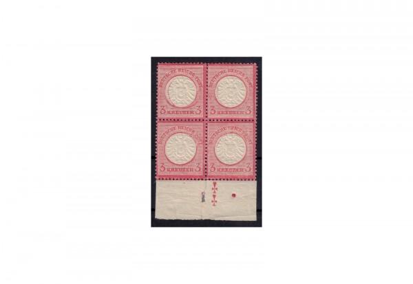 Deutsches Reich Freimarken 1872: Brustschild Michel Nr. 25 postfrisch VB mit Plattenmerkmal