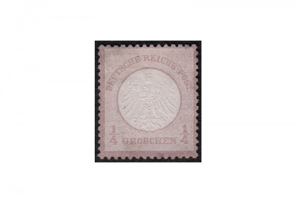 Deutsches Reich Freimarke 1872 Adler mit kleinem Brustschild Michel Nr. 1 ungebraucht